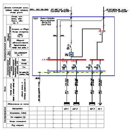 схема проект электроснабжения